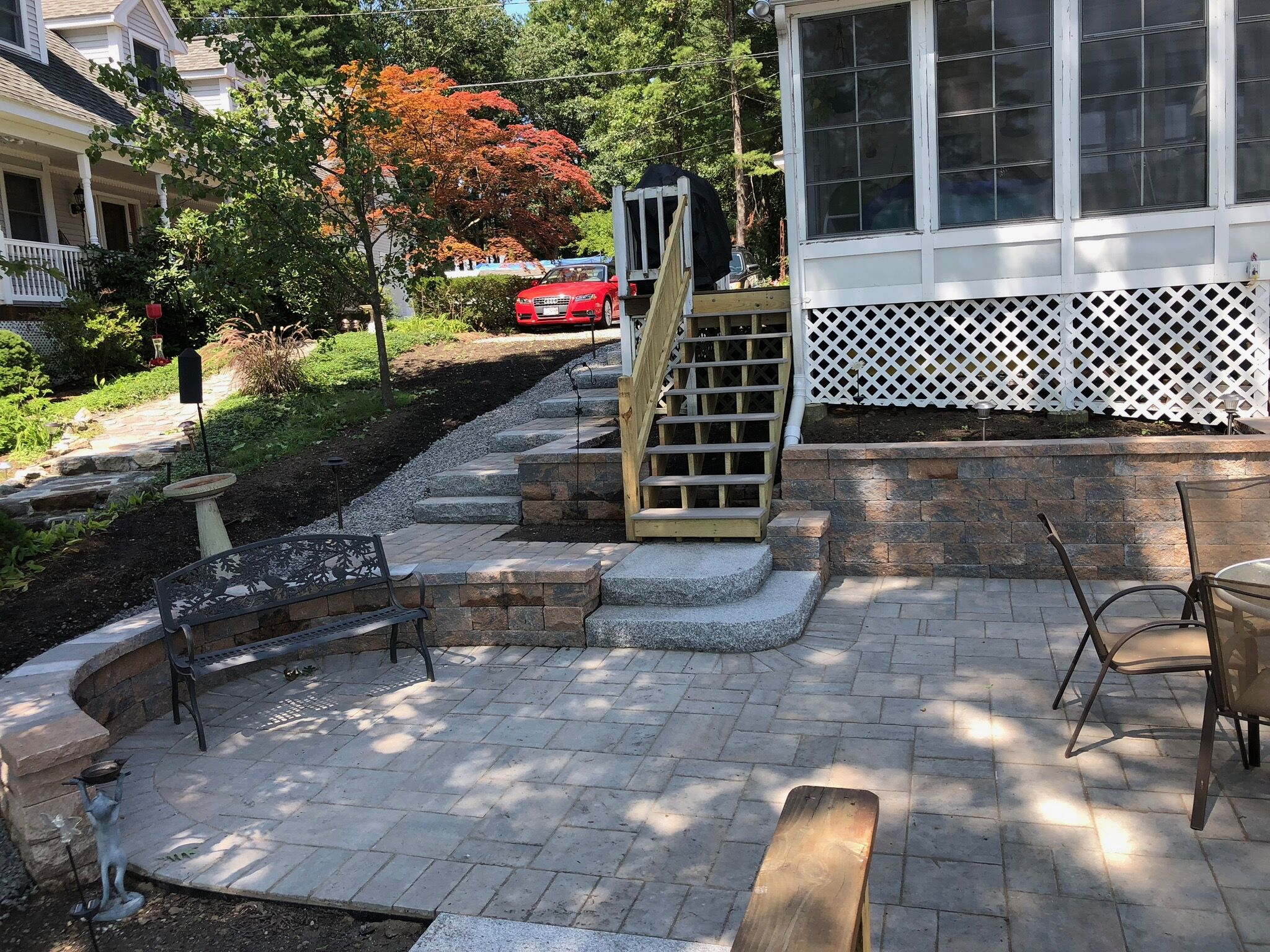 Multi Tiered Patio Staircase