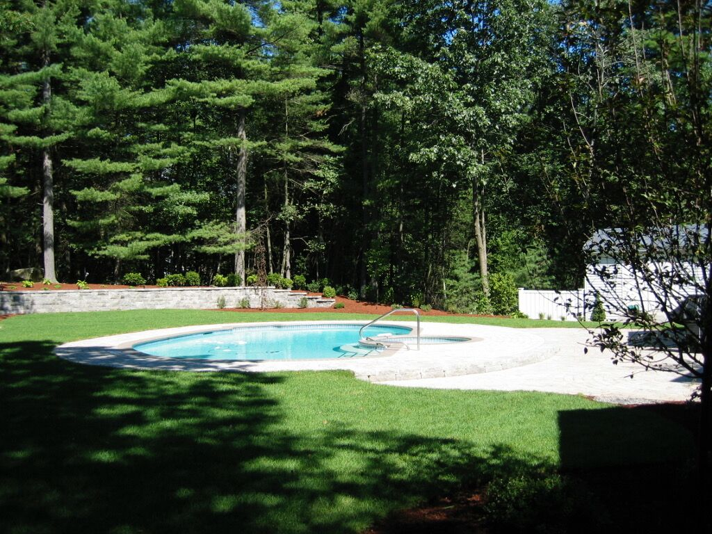 Tiered Retaining Wall Pool Patio