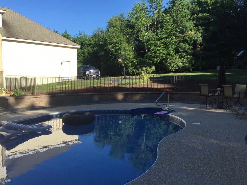 Pool Area Retaining Wall